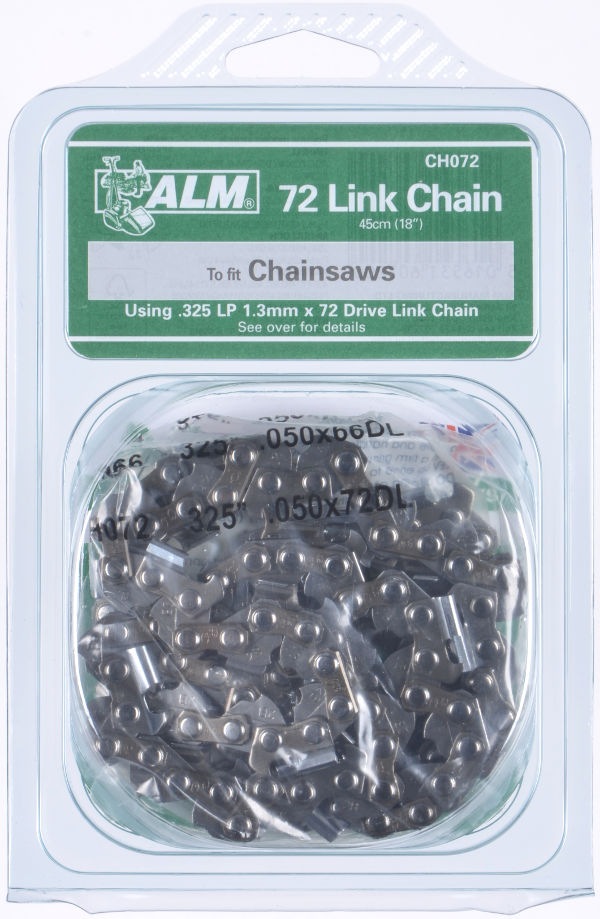 Chainsaw Chain - 45cm (18-inch) 72 Drive Links, for Ikra