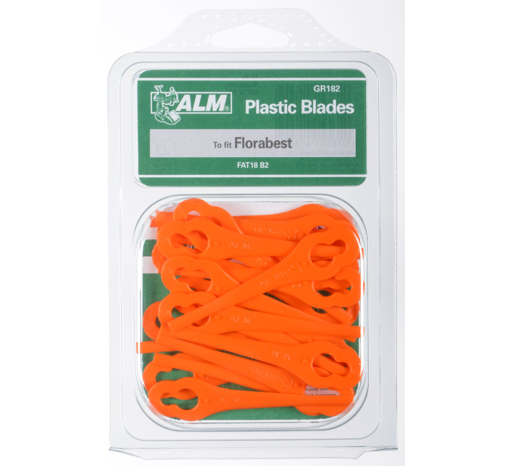 Plastic blades for Lidl Florabest, Aldi Gardenline & others