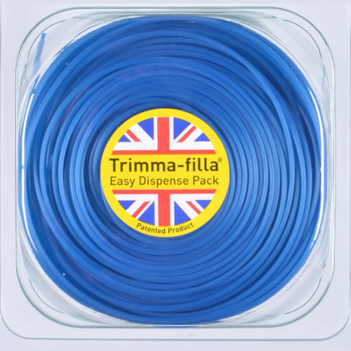 1.5mm x 15m grastrimmer draad (Blauw)