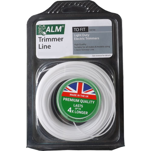 1.3mm x 15m ronde grastrimmer draad (Wit)