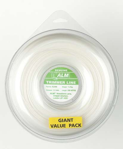 1.3mm x 305m - White Trimmer Line - 1/2 kg Pack